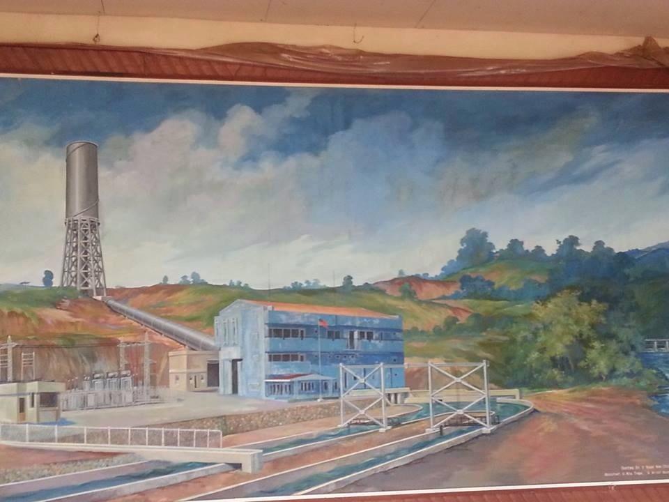 水電力の工場を描いた絵画