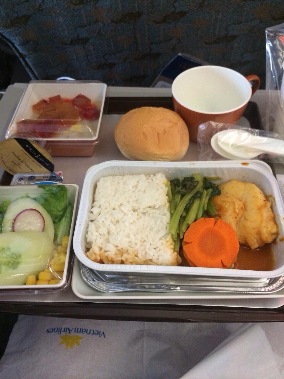 機内で供された食事