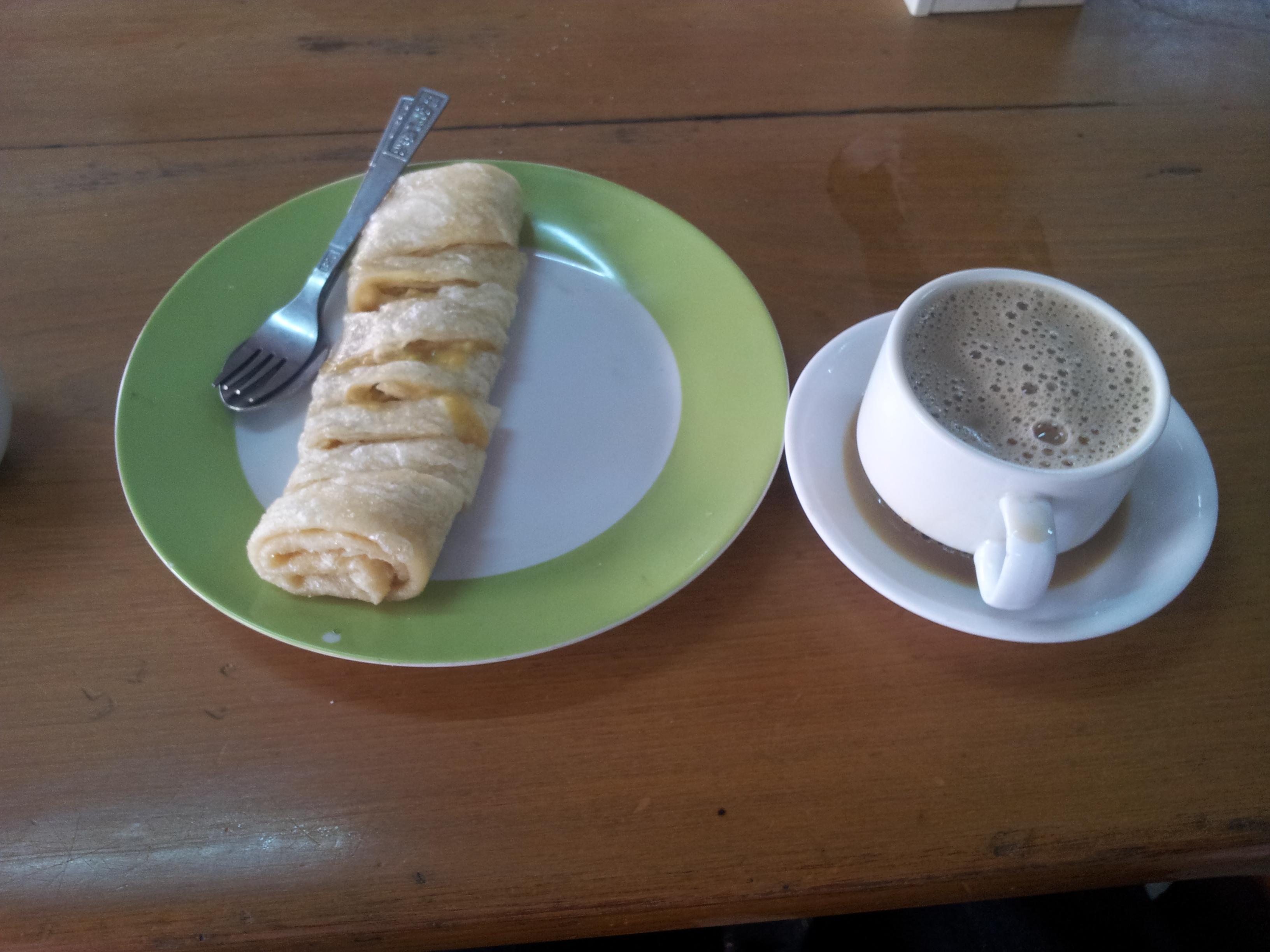 甘いインスタントコーヒーとスイーツ